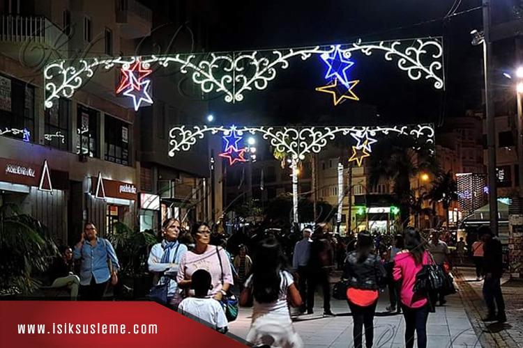 Led Işık Yazı Belediye Sokak Süsleme - Bilge Design -