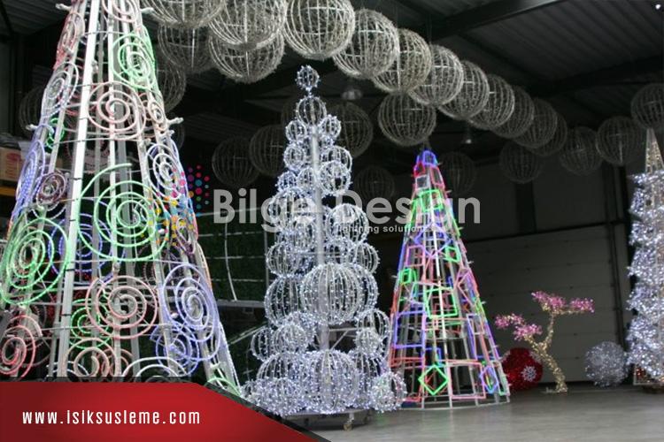 Işıklı Ağaç Süsleme Çam Ağacı Süsleri -