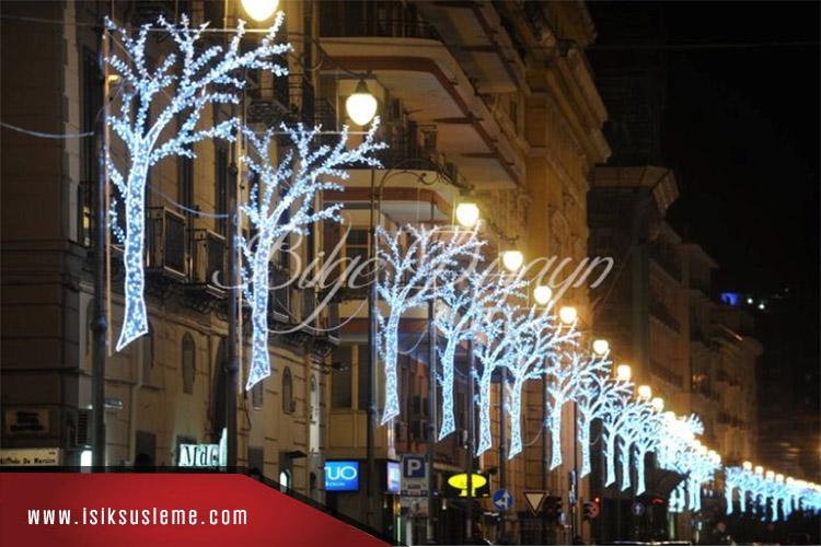 Cadde Led Işık Direk Süsleme - Bilge Design -