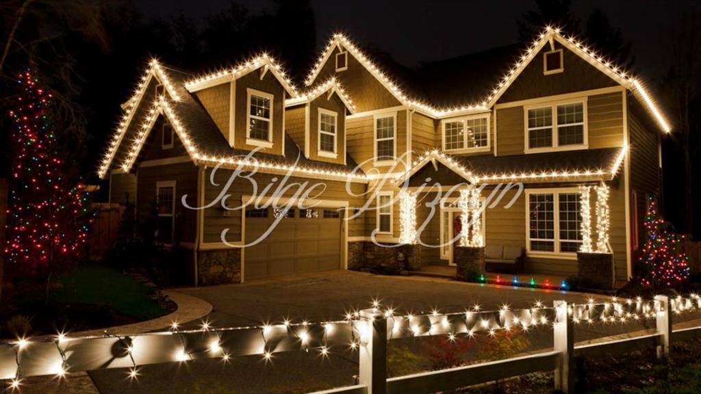 Yılbaşı Villa Çatısı Saçak ve Led Işık Süsleme ve Aydınlatma -